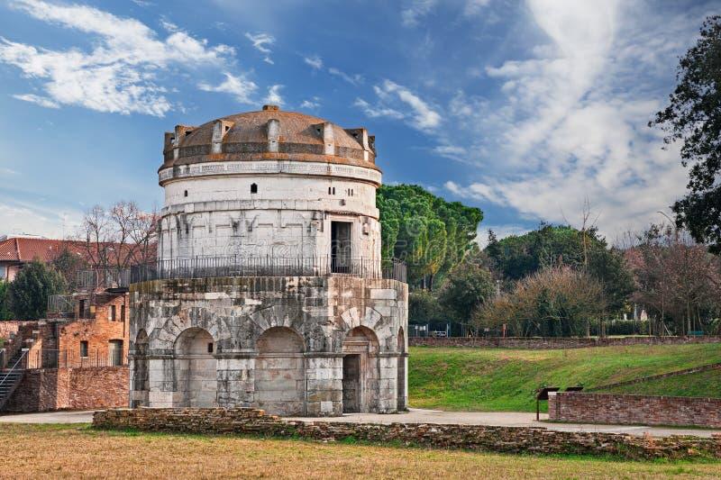 Ravenna, Italië: het mausoleum van Theodoric stock foto