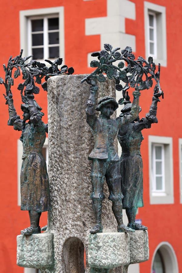 Ravensburg är en stadsTyskland royaltyfria foton