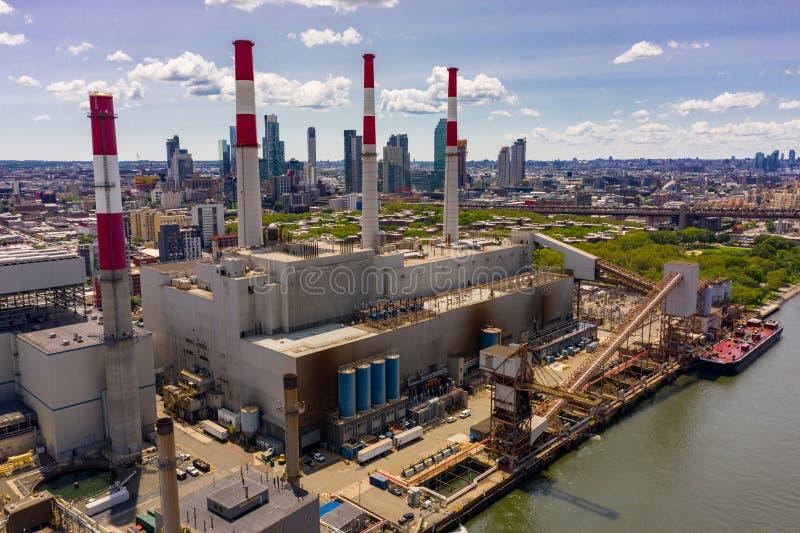 Ravenswood производя город Нью-Йорк длинного острова станции стоковое изображение rf