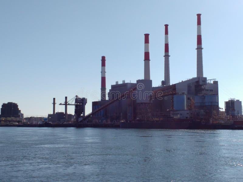 Ravenswood Generating Station from Roosevelt Island, NYC, NY, USA royalty free stock photography
