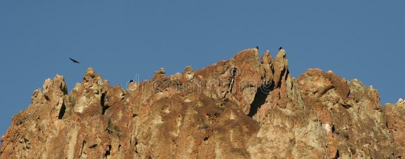Ravenzitstok in Smith Rock State Park - Terrebonne, Oregon stock fotografie