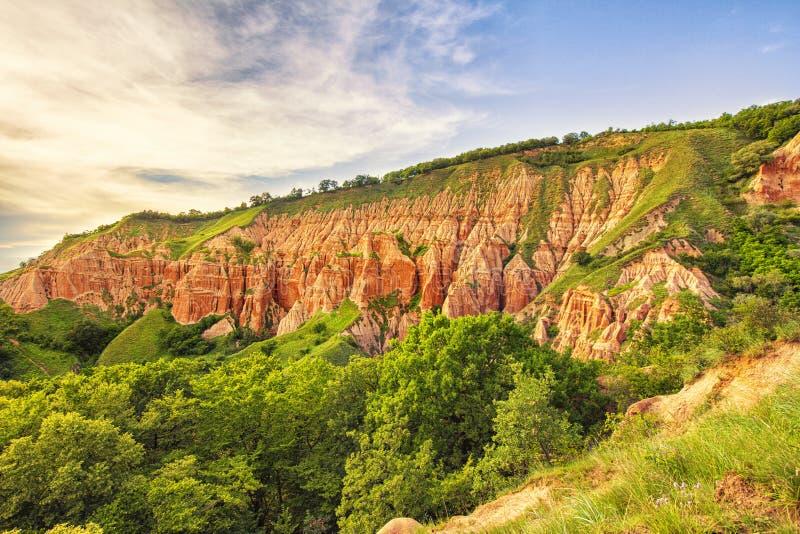 Ravin rouge - Rapa Rosie - Roumanie, Alba Iulia photographie stock libre de droits