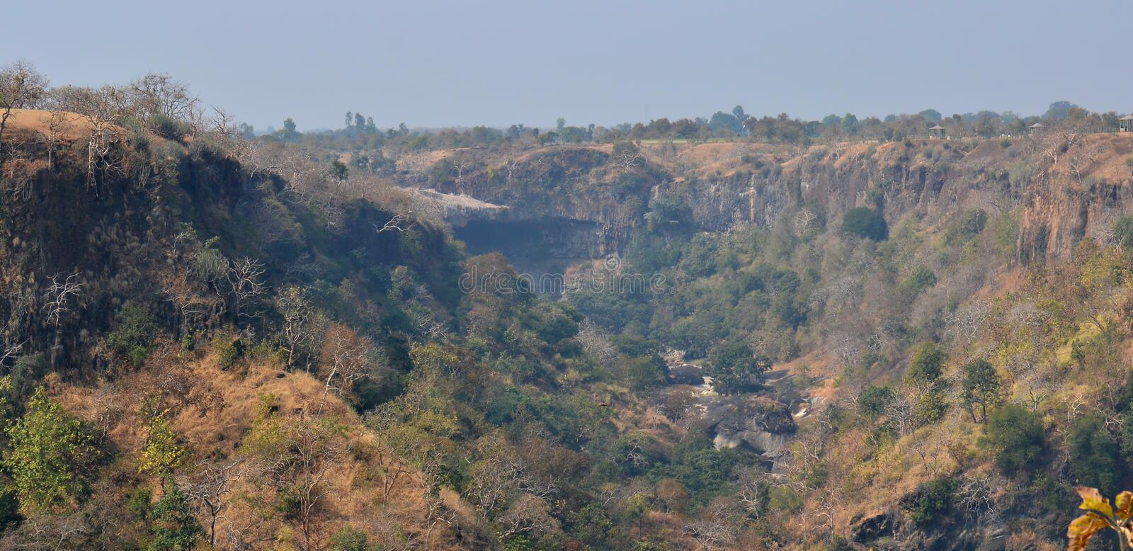 Ravine/Gorge in Central India and Malwa. Dry Water Fall and Ravine/Gorge in Central India and Malwa region of India stock images