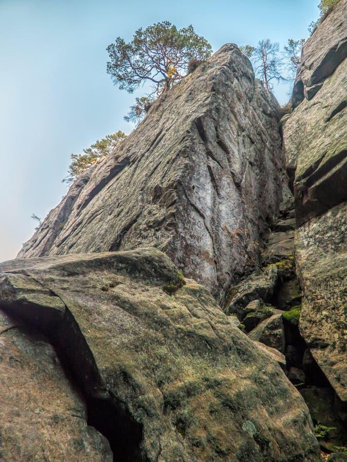 Ravine nel parco nazionale di Table Mountain, Polonia fotografie stock libere da diritti