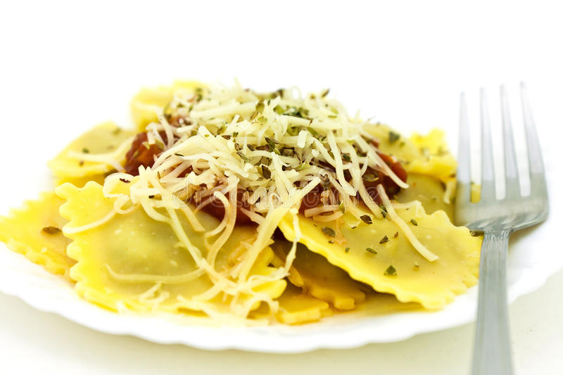 Ravioli. Is a delicious dish royalty free stock photo