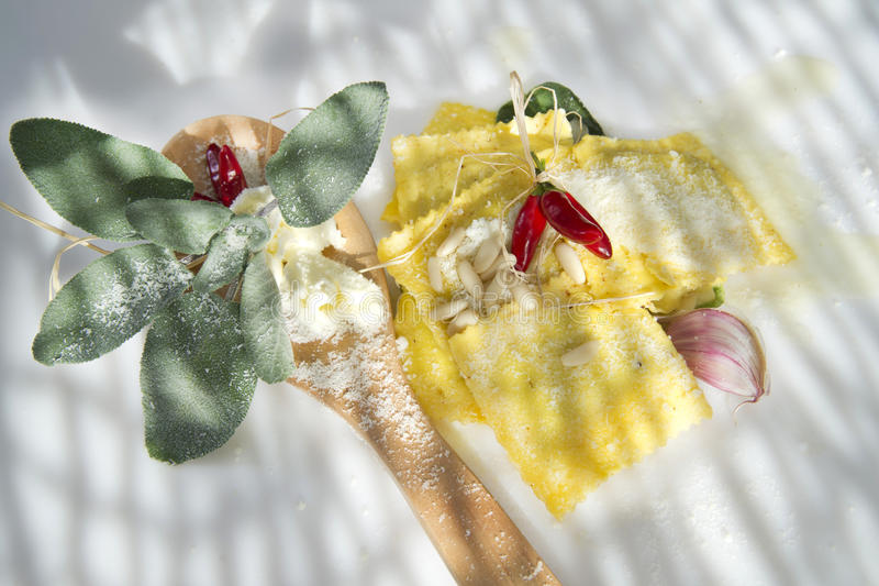 Download Ravioli With Butter And Sage Stock Image - Image: 34486371