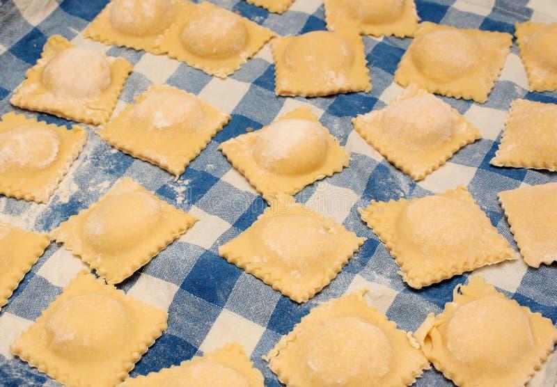 Ravioli, Italiaans voedsel royalty-vrije stock foto's