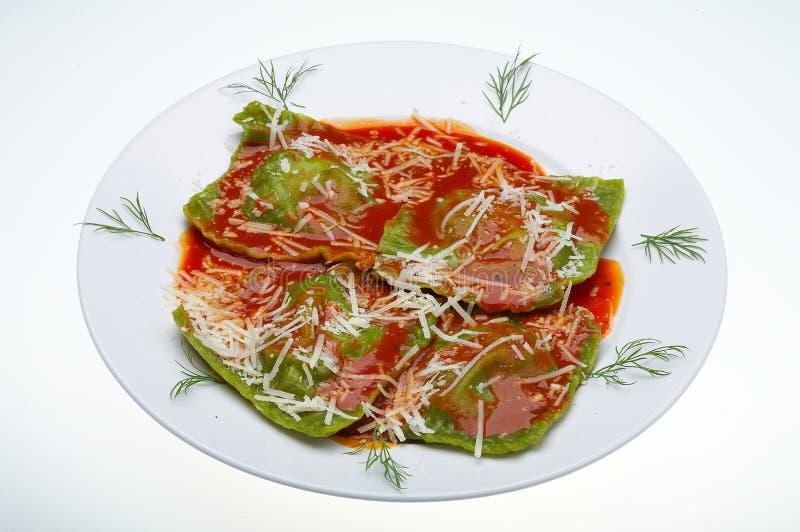 Ravioli italiano do alimento fotografia de stock