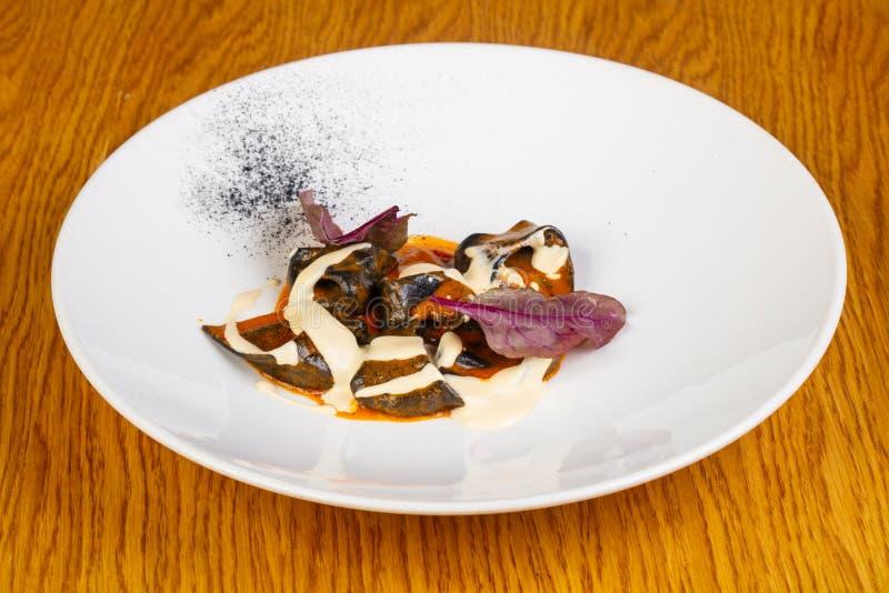 Ravioli med krabban arkivfoton