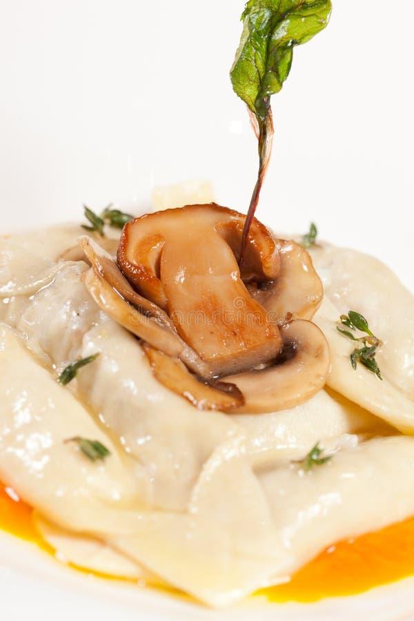 Download Ravioli with mushroom stock image. Image of sauce, herb - 23851605