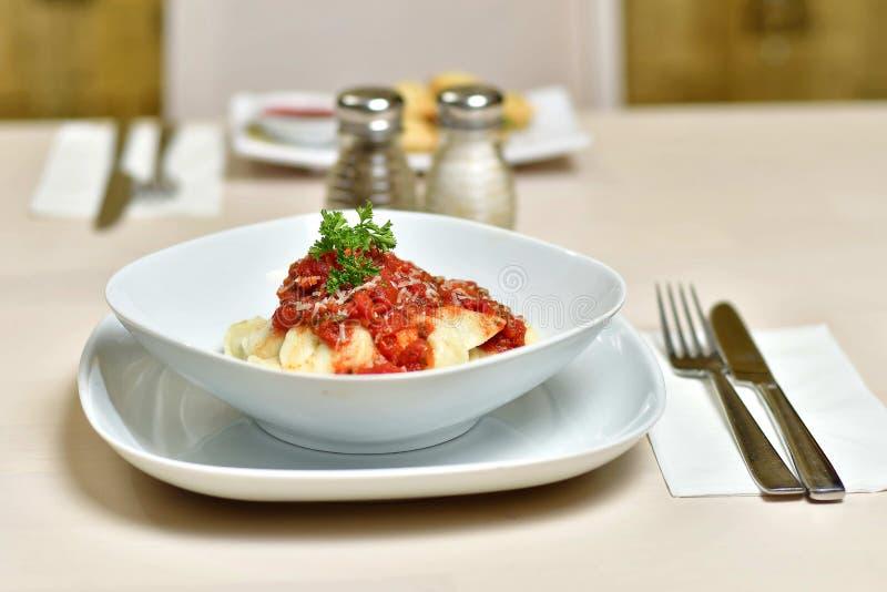 Ravioli in Pasta Sauce 2 royalty free stock photo