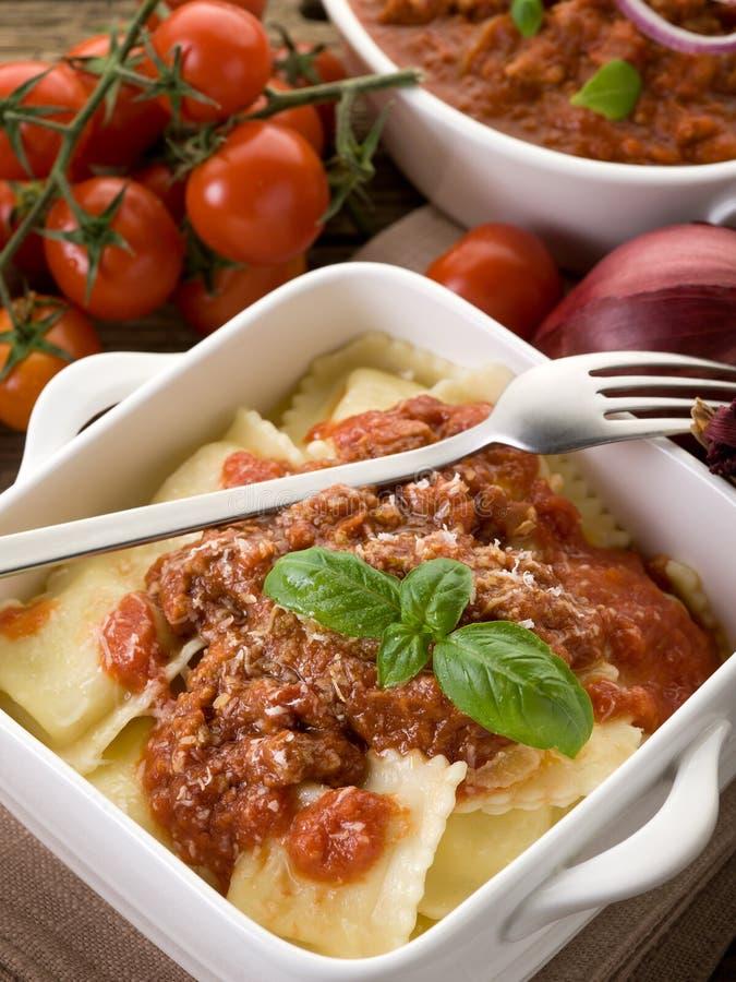 Free Ravioli With Ragout Sauce Stock Photos - 22009473