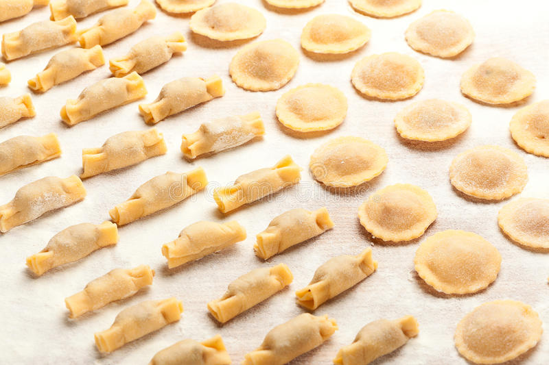 Download Ravioli  on wooden board stock photo. Image of ready - 29085360
