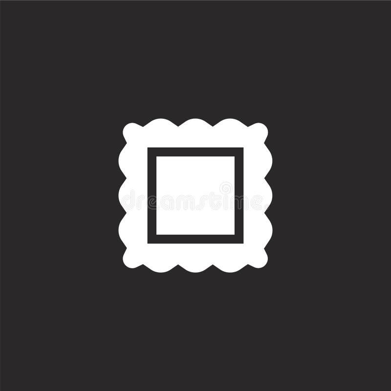 Raviolipictogram Gevuld raviolipictogram voor websiteontwerp en mobiel, app ontwikkeling raviolipictogram van de gevulde inzameli vector illustratie