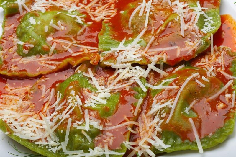 Raviolis italianos del alimento imagen de archivo