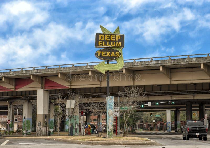 Ravissez le signe Ellum profond, Dallas, le Texas photo stock
