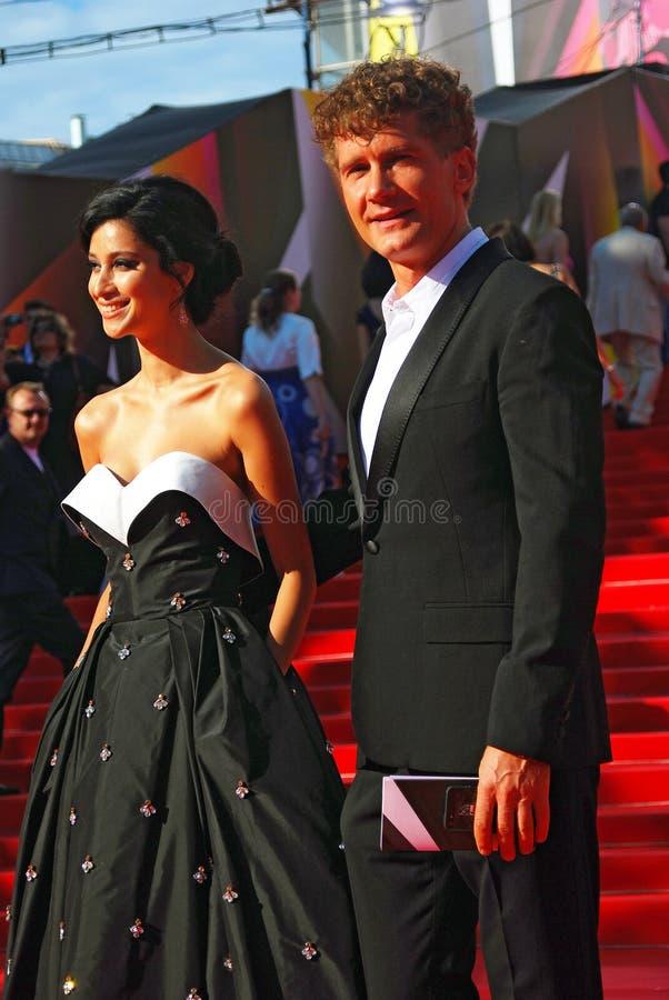 Ravshana Kurkova no festival de cinema de Moscovo imagens de stock royalty free