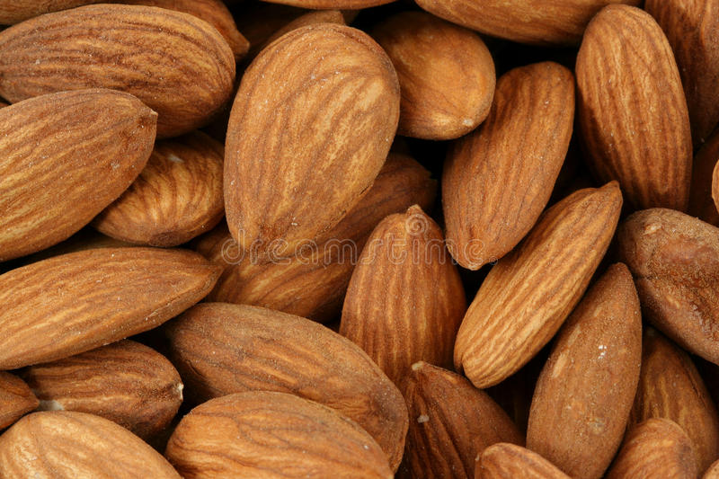 Download Raw Almonds background stock image. Image of natural - 13203197