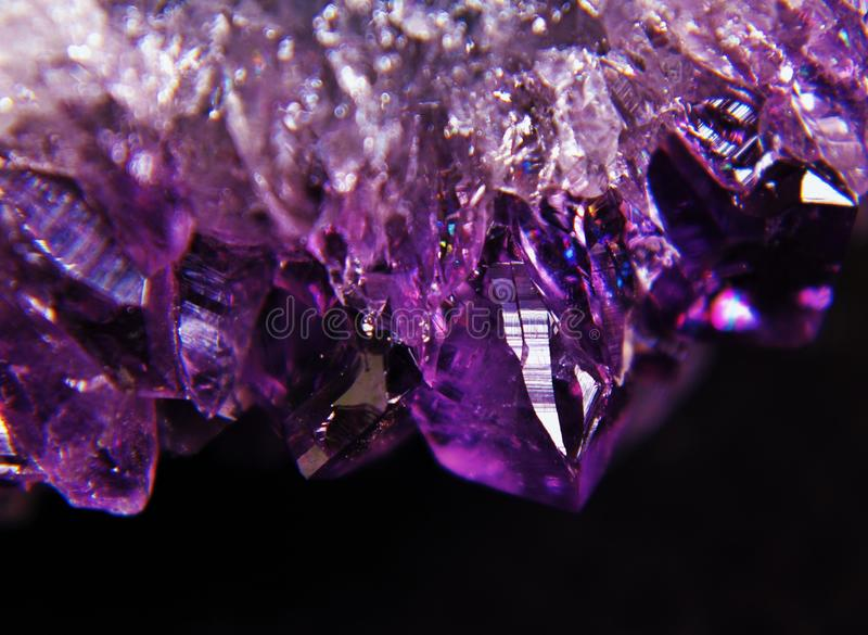 Raw Amethyst druse. Close-up of raw Amethyst druse