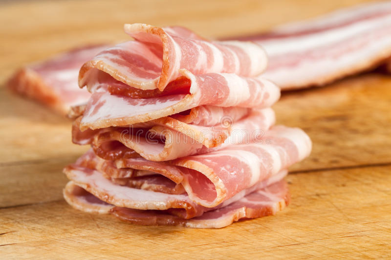 Download Raw bacon. stock image. Image of complement, further - 40443747