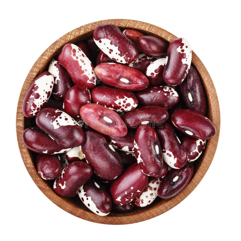 Raw beans in a plate isolated. Raw beans in a plate. isolated on a white background. file contains clipping path stock photos