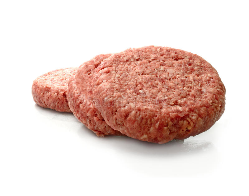 Raw Beef Burgers royalty free stock photography