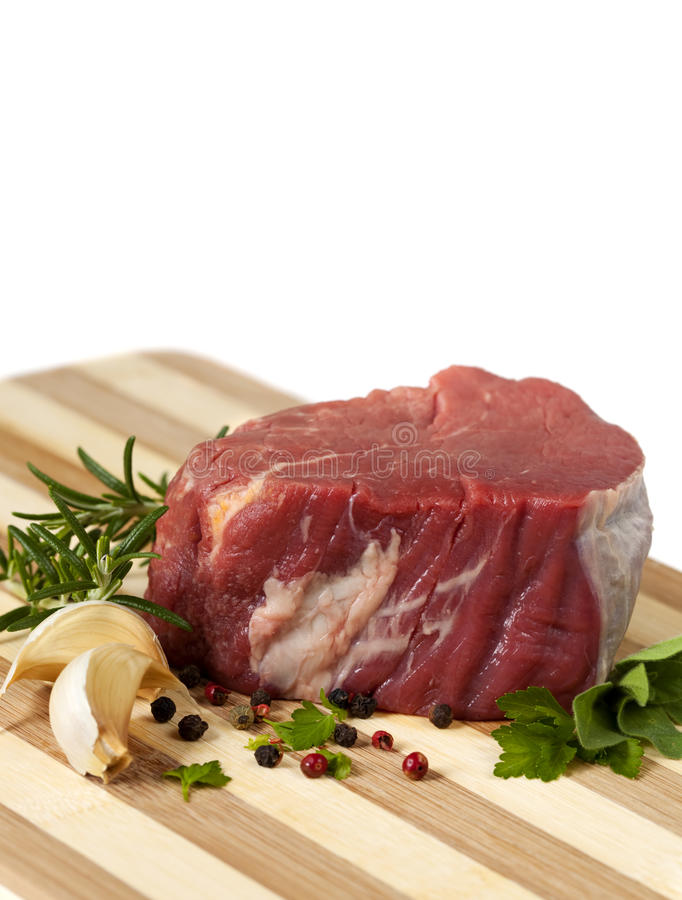 Download Raw Beef Steak stock image. Image of mignon, fillet, rosemary - 14855935