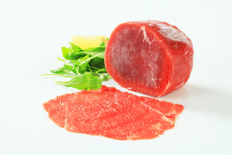 Download Raw beef tenderloin stock photo. Image of salad, closeup - 27242854