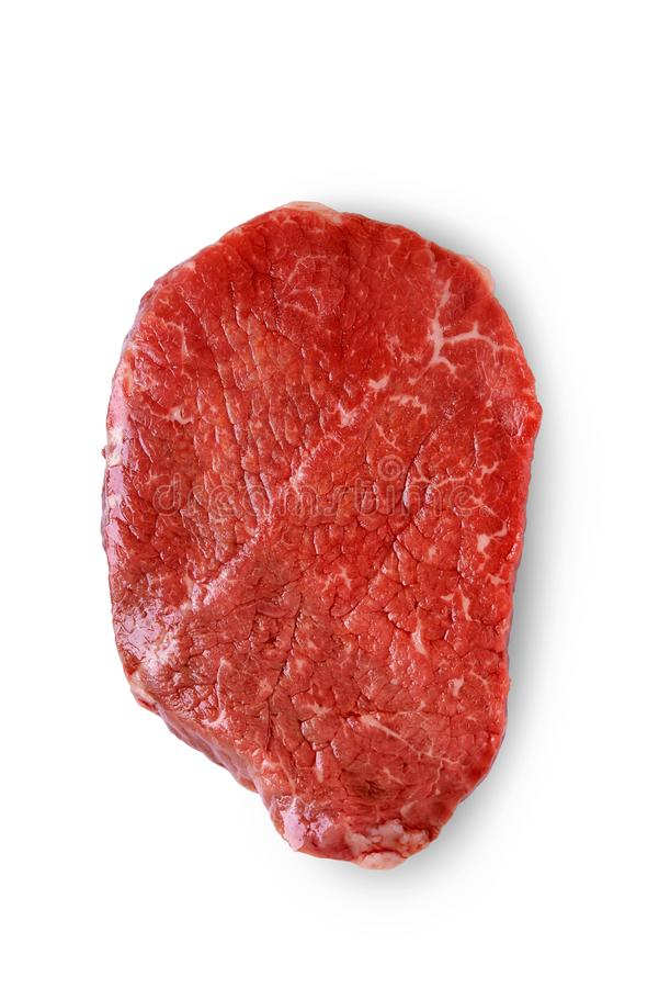 Raw beef. top view stock image