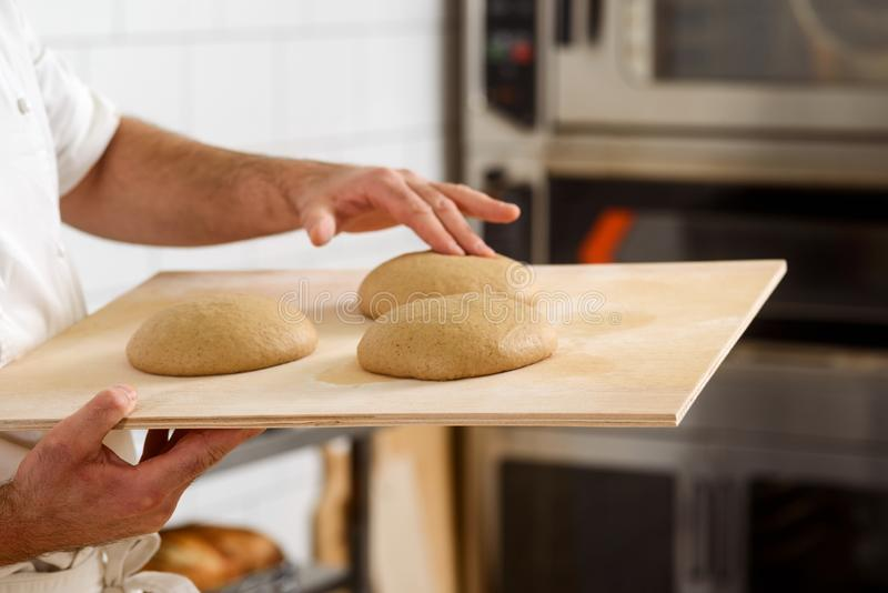 Raw bread loaves royalty free stock image