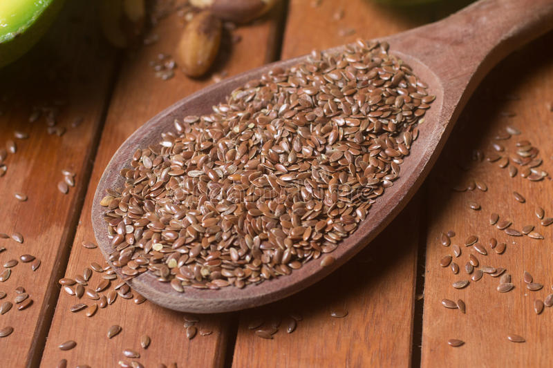Raw Brown Linseed stock image