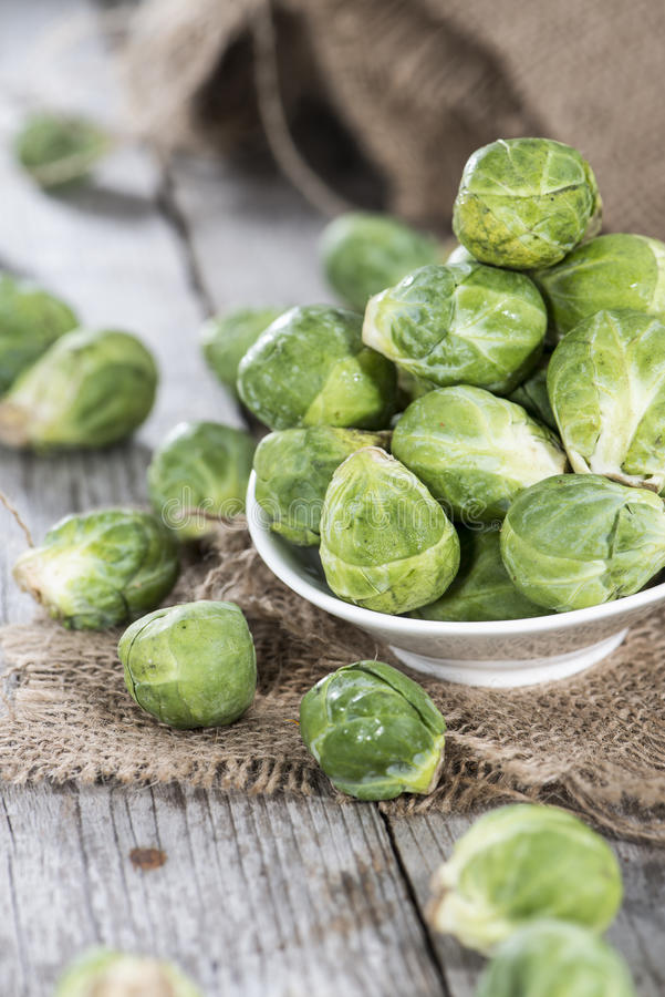 Raw Brussel Sprouts stock images