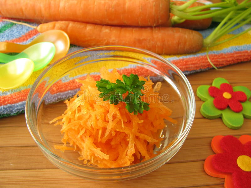 Download Raw Carrot Mash For Children Stock Image - Image: 22018467