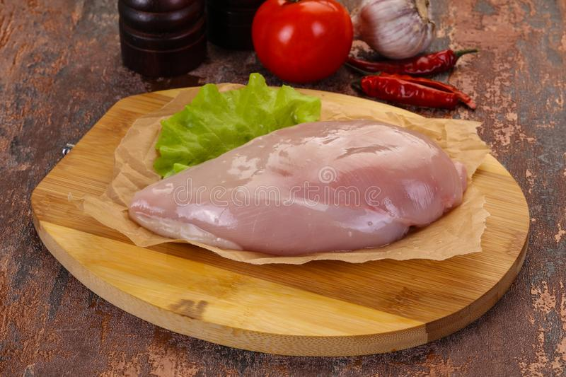 Raw chicken breast royalty free stock images