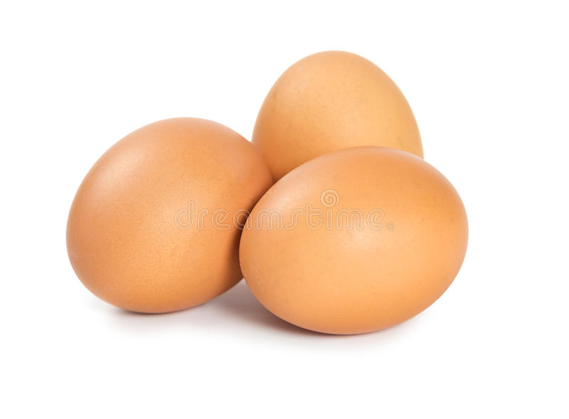 Raw chicken eggs royalty free stock photography