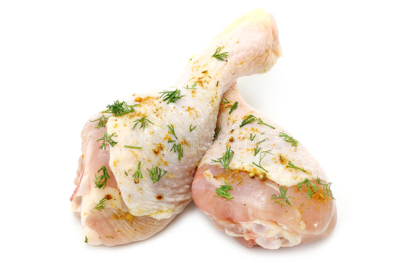 Raw chicken legs royalty free stock photo