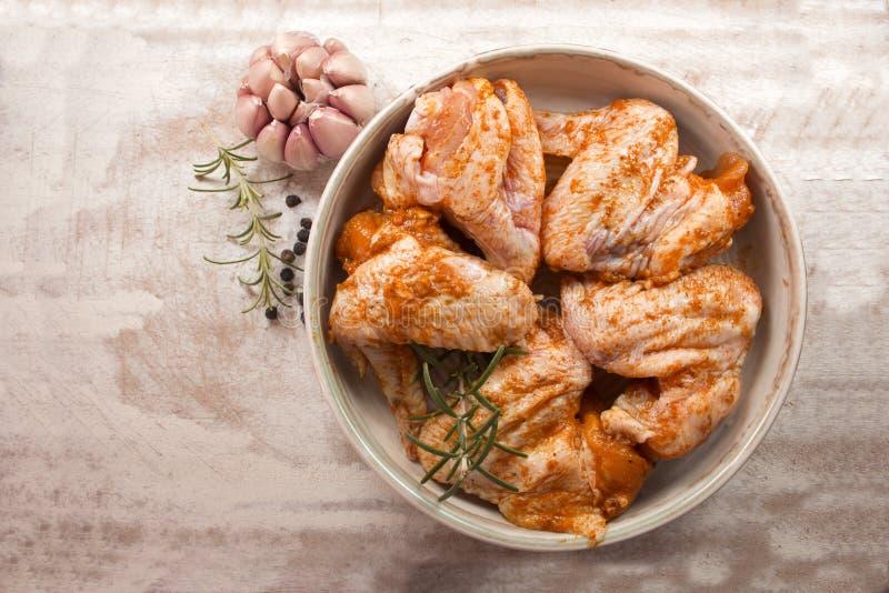 Raw chicken wings stock photos