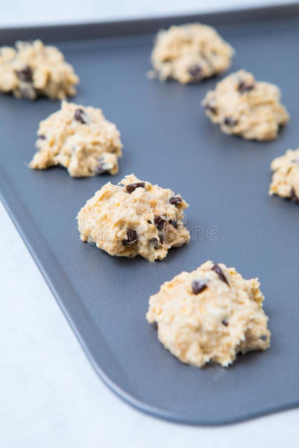 Raw Chocolate Chip Cookie Dough royalty free stock photo