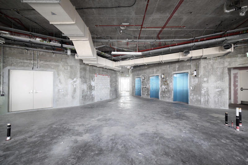 Download Raw Concrete Interior At The Top Of Dubai Stock Photo   Image Of  Interiors,