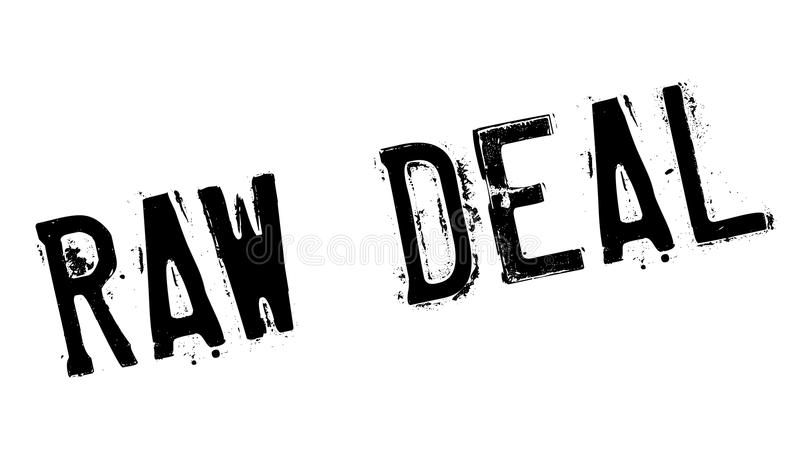 Raw Deal rubber stamp. Grunge design with dust scratches. Effects can be easily removed for a clean, crisp look. Color is easily changed vector illustration