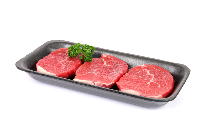 Download Raw Eye Of Round Steaks Royalty Free Stock Photo - Image: 19820085