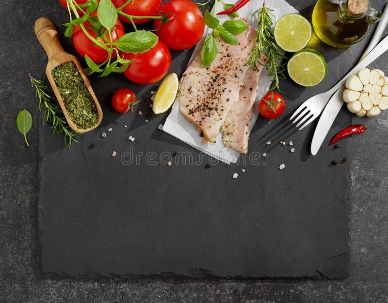 Fresh fish fillet stock image