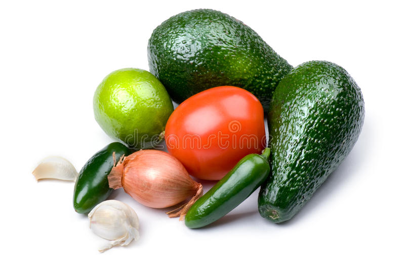 Raw food. Object on white - raw food close up royalty free stock image