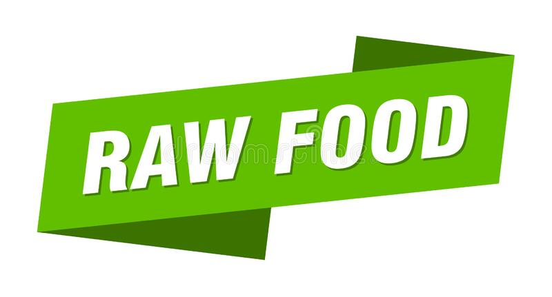 Raw food banner template. raw food ribbon label. Raw food sign vector illustration