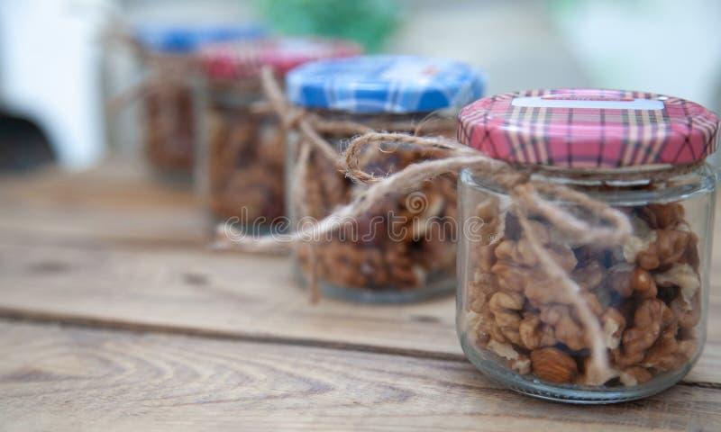 Raw food meal nuts walnut almond hazelnut royalty free stock photo