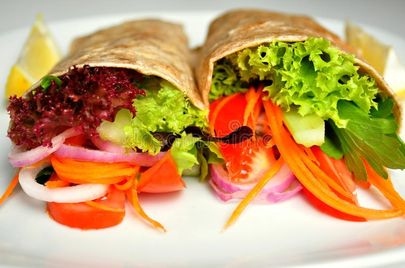 Raw food recipe with fresh vegetables stock image