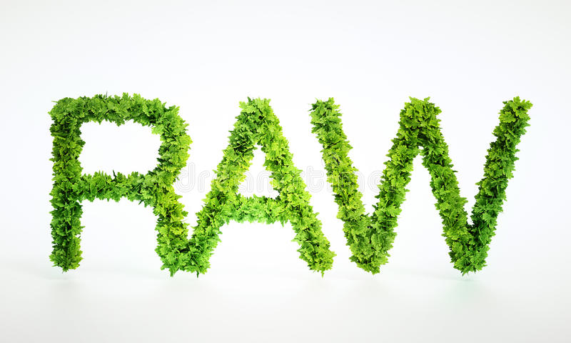 Raw food text sign royalty free illustration