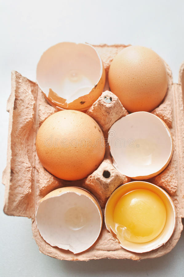 Raw fresh eggs royalty free stock image
