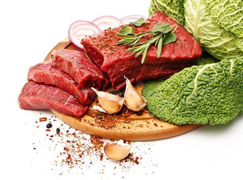 Raw Fresh Meat Stock Photo