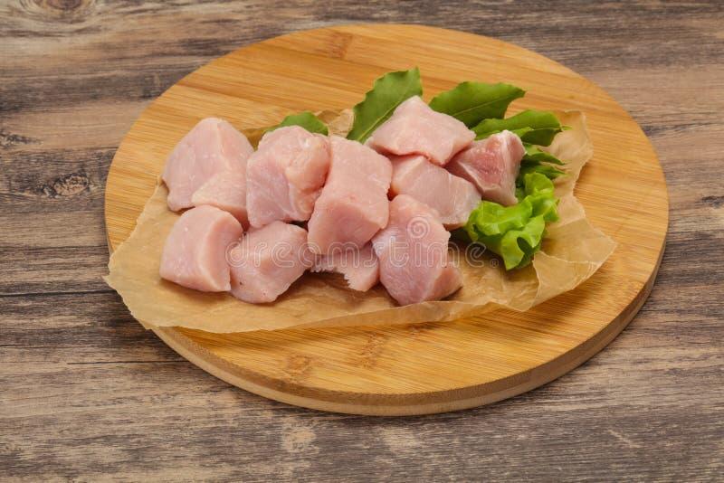 Raw fresh pork meat cube stock photography